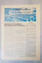Information from the Peace Movement of the German Democratic Republic, Bulletin on the World Congress for International Women's Year, 30 October 1975, by Peace Council of the GDR