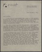 Letter from Frank Hollins to John T. Corbett re: Soft Drinks Concentration Scheme, November 21, 1943