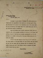 Letter from C. H. Calhoun to Ensign Allan Jacobs re: Privileges, December 18, 1923
