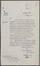 Copies of Correspondence to, from, and about S. H. Whyte, President of the Panama Canal West Indian Employees Association, 1929-1933