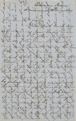 Letter from Emmeline MacArthur Leslie to Jane Davidson Leslie, May 28, 1849
