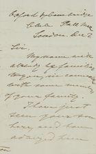 Letter from Dr. Bernard to William Leslie, December 5, 1846