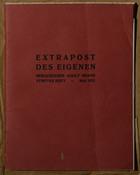 Extrapost des Eigenen Herausgeber Adolf Brand Drittes Heft: Mai 1911
