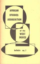 African Studies Association of the West Indies,Bulletin no. 7, December 1974