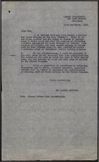 Letter and Attached Forms from Labour Department to Prospective Immigrants, Kingston, Jamaica re: Immigration, September 13, 1948