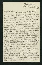 Letter from Robert Anderson to Edith Anderson, March 18, 1892