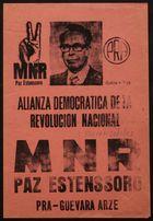 Alianza democratica de la revolución nacional : MNR paz estenssoro (b2965983)
