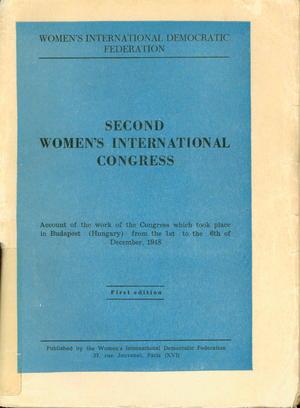 Second Women's International Congress WIDF 1948