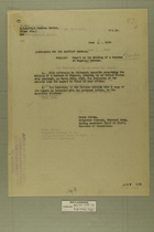Memo from Henry Jervey re: Report on the Killing of a Mexican at Nogales, Arizona, June 6, 1918