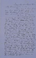 Letter from Robert Logan Jack to Robert and Maggie Jack, April 27, 1892