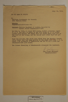 Letter from Josef Heppner to the Military Government for Bavaria - July 12, 1946