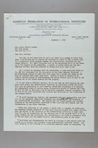 Letter from Edith T. Bremer to Alice Stetten, November 7, 1949