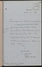 Letter from T. H. Sanderson to Lord Knutsford re: Affairs on Panama Isthmus, with Enclosures from HM Acting Consul General at Panama, June 4, 1889