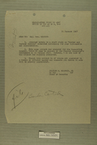 Memo from Charles E. Balthis to Maj. Gen. Keating with Attached 'Border and Customs Control' Staff Study, January 1947