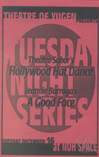 Program from A Good Face by Jeannie Barroga, produced by Theatre of Yugen at the Noh Space in San Francisco, CA on December 16, 1997.