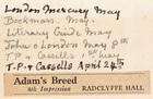 Adam's Breed, 4th Impression by Radclyffe Hall