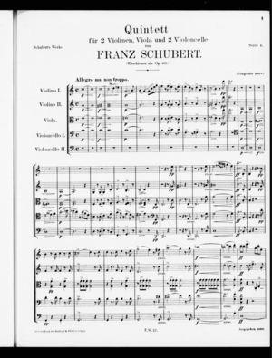 Quintett, D. 956 / Op. post. 163, C Major