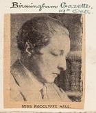 Miss Radclyffe Hall
