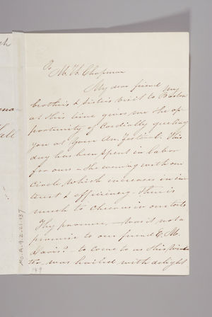 Letter from Sarah Pugh to Maria Weston Chapman, December 10, 1845