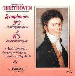 Beethoven: Symphony No. 2 in D, Op. 36, Symphony No. 5 in C minor, Op. 67 (Beethoven's Fifth)  Album Art