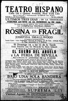 Flyer for Bajo una Sola Badnera by Goznalo O'Neill, with Erasmo Vando at the Teatro Hispano, NY, 1938.