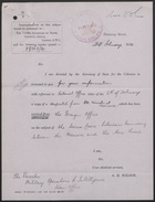 Letters from F. Gordon Rule to The Secretary of State for Foreign Affairs, London and The Secretary of State for the Republic of Liberia, December, 1929