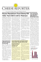 Cheese Reporter, Vol. 138, No. 6, Friday, August 2, 2013