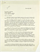 Letter from John M. Clark to John T. Lassiter re: General Report and project feasibility, March 31, 1943