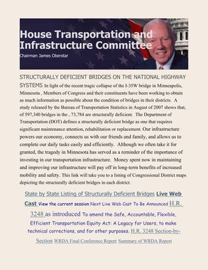House Transportation and Infrasctructure Committee