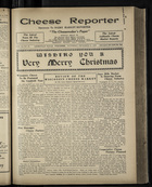 Cheese Reporter, Vol. 54, no. 15, Saturday, December 21, 1929