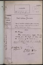 Colonial Office Correspondence Register, re: Letter from Foreign Office on Nicaraguan Turtle Fisheries Commission, with Related Minutes, March 1905
