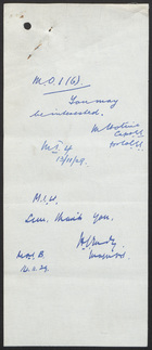 Letter from J. E. W. Flood to The Under Secretary of State, Foreign Office, November 7, 1929