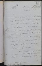 Memo from T. V. Lister to Under Secretary of State, Colonial Office, re: Estate of Handauma, May 08, 1893