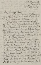 Letter from Ellie Love MacPherson to Jessie Love, February 25, 1886
