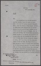 Letter from W. A. Smart to Secretary of State for Foreign Affairs re: Activity of Rebel Bands and Destruction of Railway Lines, November 28, 1925