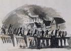 Set design by Pietro Bertoja (1828-1911) for L'assedio di Corinto (The Siege of Corinth) opera by Gioachino Rossini (1792-1868)