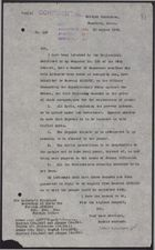 Letter from W. A. Smart to Foreign Office re: Nationalists Submit Demands to French Authorities, August 30, 1925