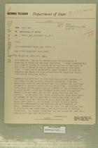 Telegram from Henry Cabot Lodge, Jr. in New York to Secretary of State, December 10, 1956