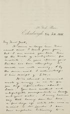 Letter from Hugh Lockhart to Robert Logan Jack, February 24, 1881