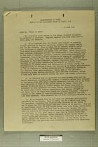 Memo from T. J. Wells to Chief of Staff, June 6, 1945