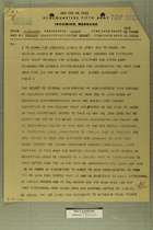 Incoming Message from Field Marshall Alexander to AGWAR for Combined Chiefs of Staff, June 9, 1945