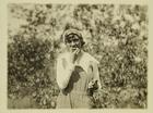 Photograph of Woman Farm Worker Taking a Break