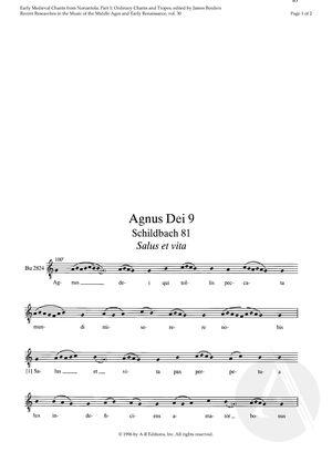 Agnus Dei 9. Schildbach 81 - Salus et vita