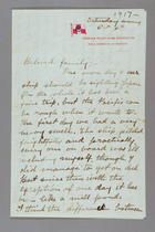 Letter from Madeleine Z. Doty to Beloved Family, October 6, 1917