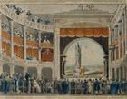 Austria, Vienna, Interior of Josefstadt Theatre, 19th century, print
