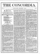 The Concordia, Vol. 1, no. 3, March, 1866
