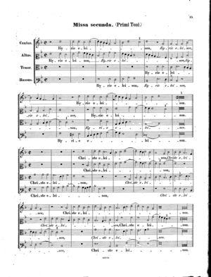 Missa secunda, primi toni, Op. 22