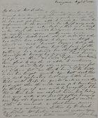 Letter from Elizabeth Veale MacArthur to Jane Davidson Leslie, August 6, 1841