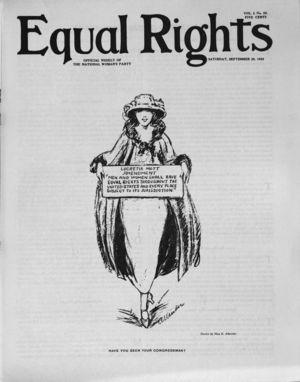 Equal Rights, Vol. 01, no. 33, September 29, 1923