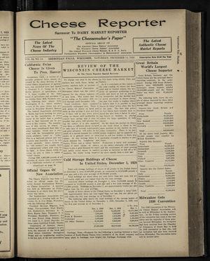 Cheese Reporter, Vol. 54, no. 14, Saturday, December 14, 1929